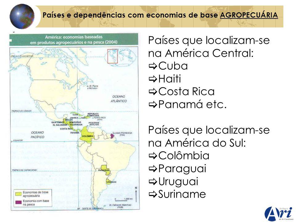 Países que localizam-se na América Central: Cuba Haiti Costa Rica