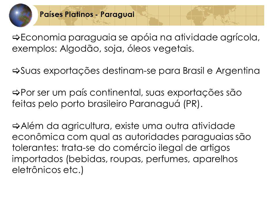 Suas exportações destinam-se para Brasil e Argentina