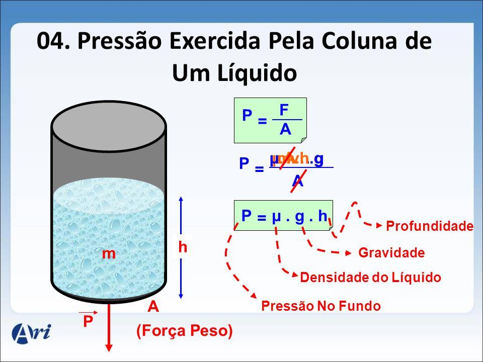 04. Pressão Exercida Pela Coluna de Um Líquido