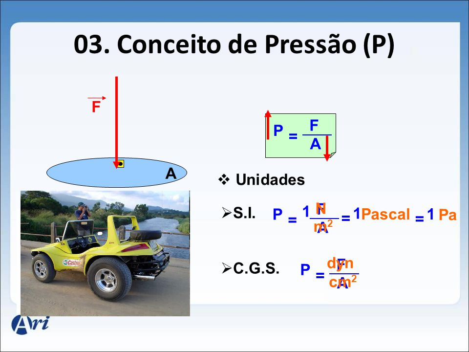 03. Conceito de Pressão (P)