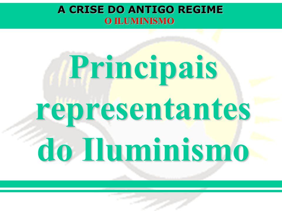 Principais representantes do Iluminismo