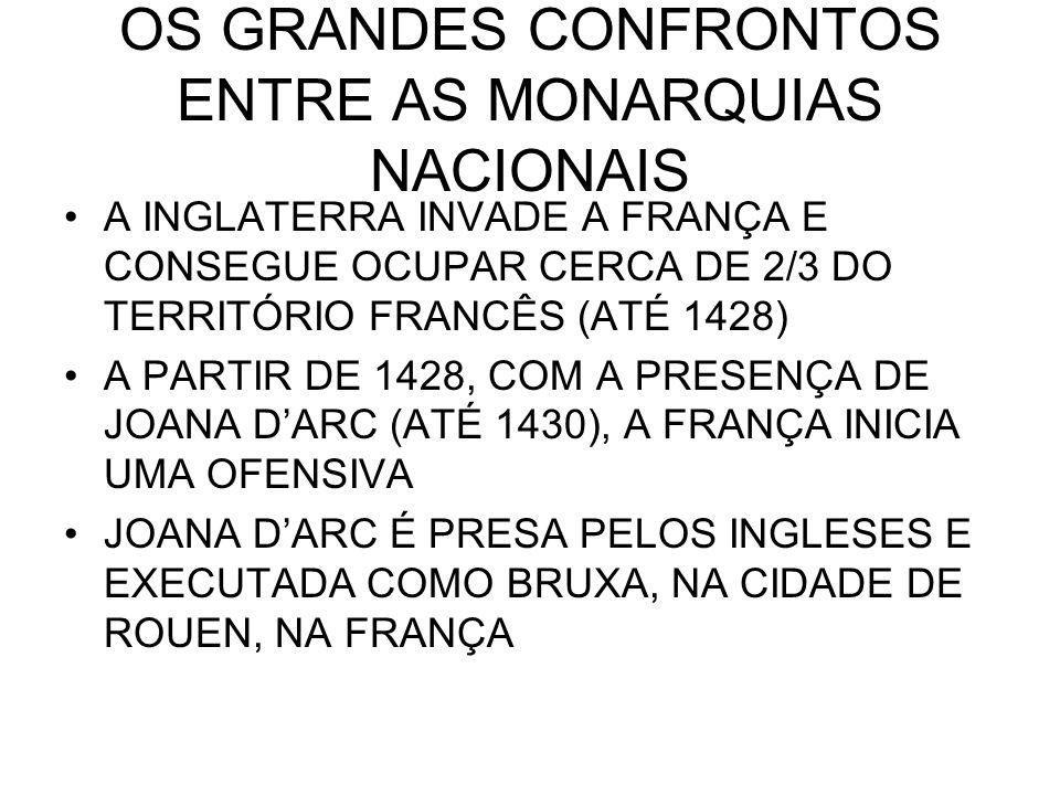 OS GRANDES CONFRONTOS ENTRE AS MONARQUIAS NACIONAIS