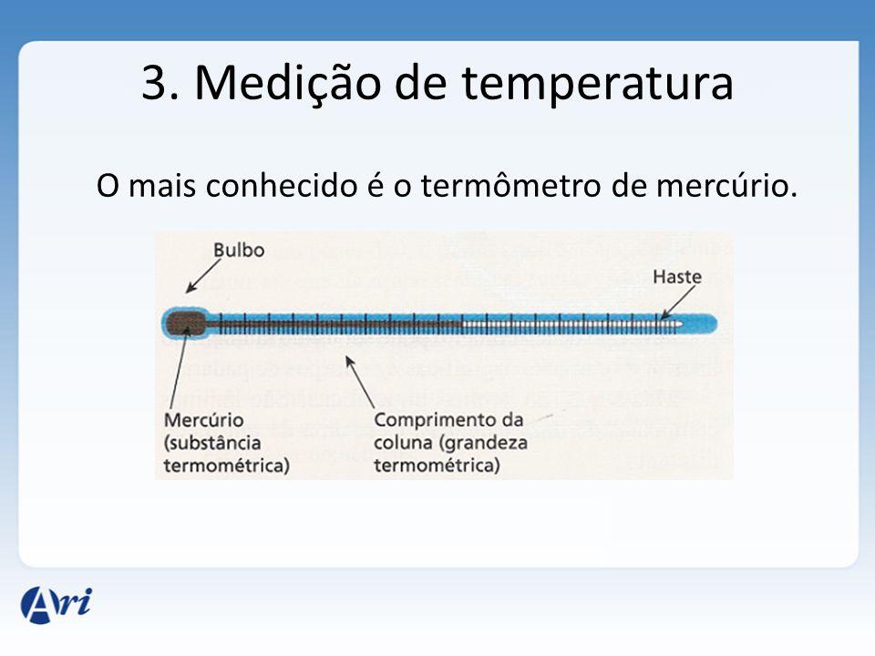 3. Medição de temperatura