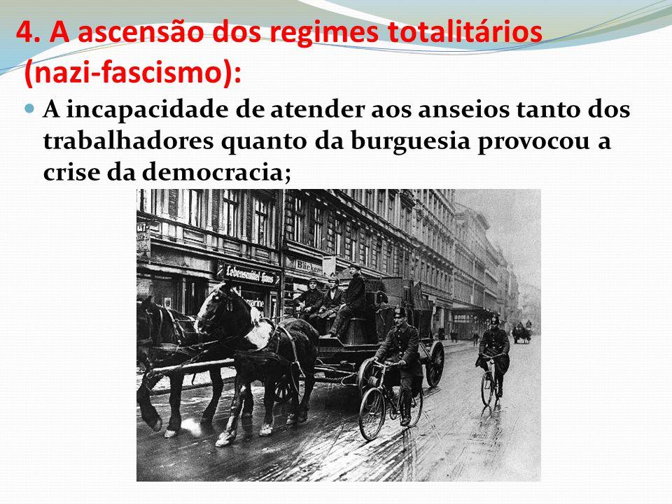 4. A ascensão dos regimes totalitários (nazi-fascismo):