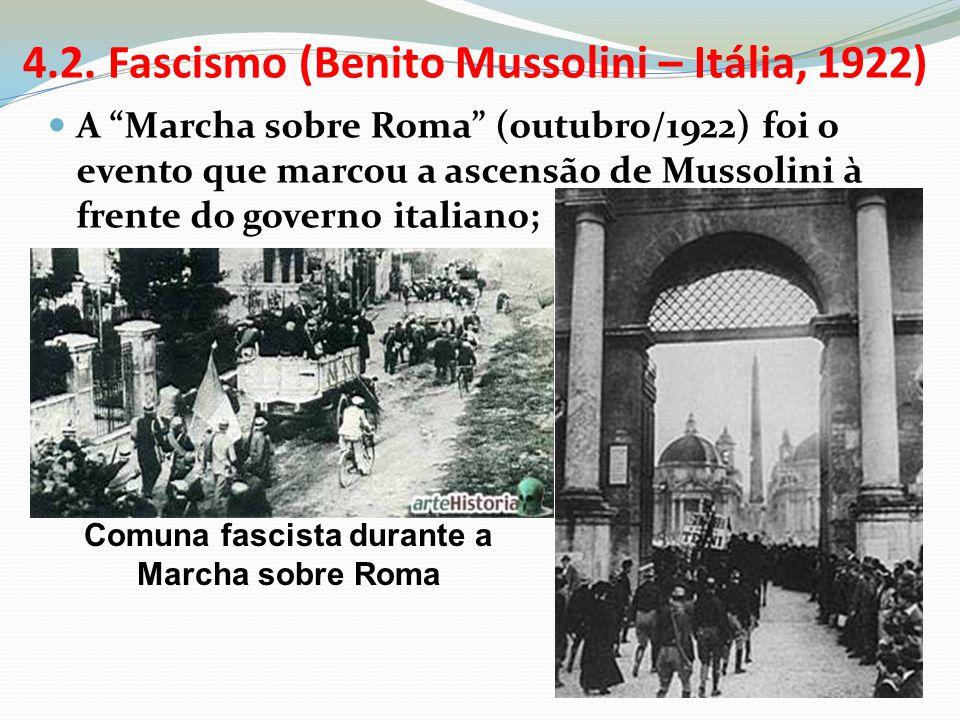 4.2. Fascismo (Benito Mussolini – Itália, 1922)