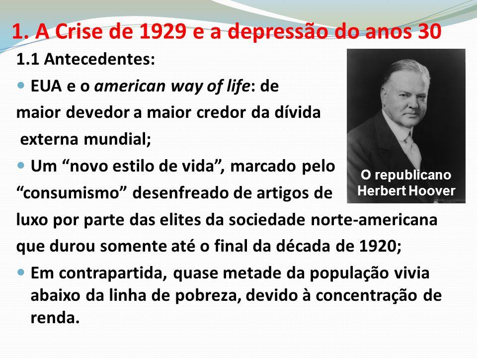 1. A Crise de 1929 e a depressão do anos 30