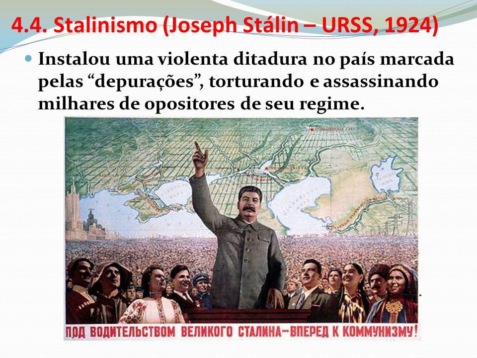 4.4. Stalinismo (Joseph Stálin – URSS, 1924)