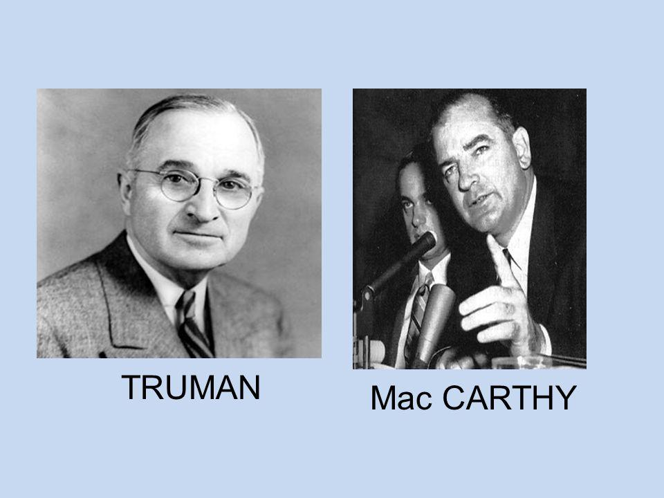 TRUMAN Mac CARTHY