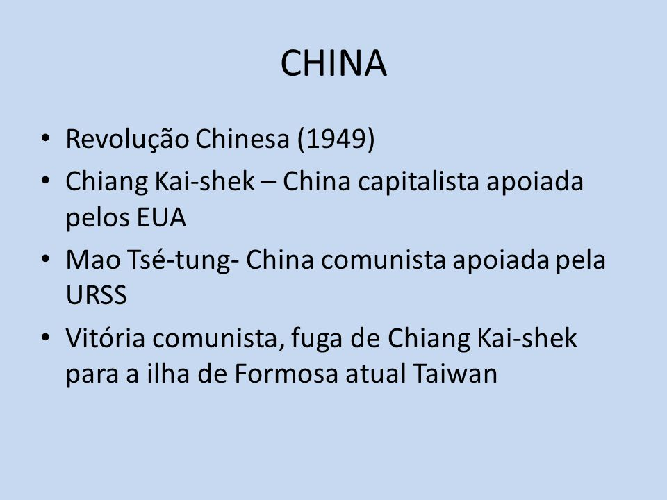 CHINA Revolução Chinesa (1949)