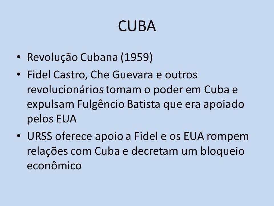 CUBA Revolução Cubana (1959)