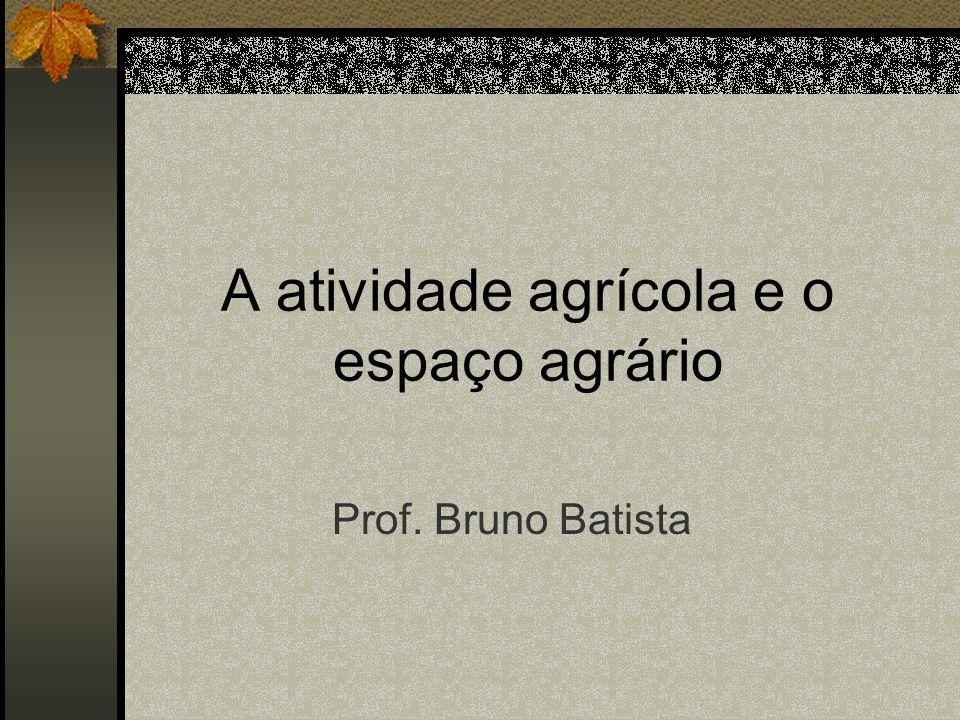 A atividade agrícola e o espaço agrário
