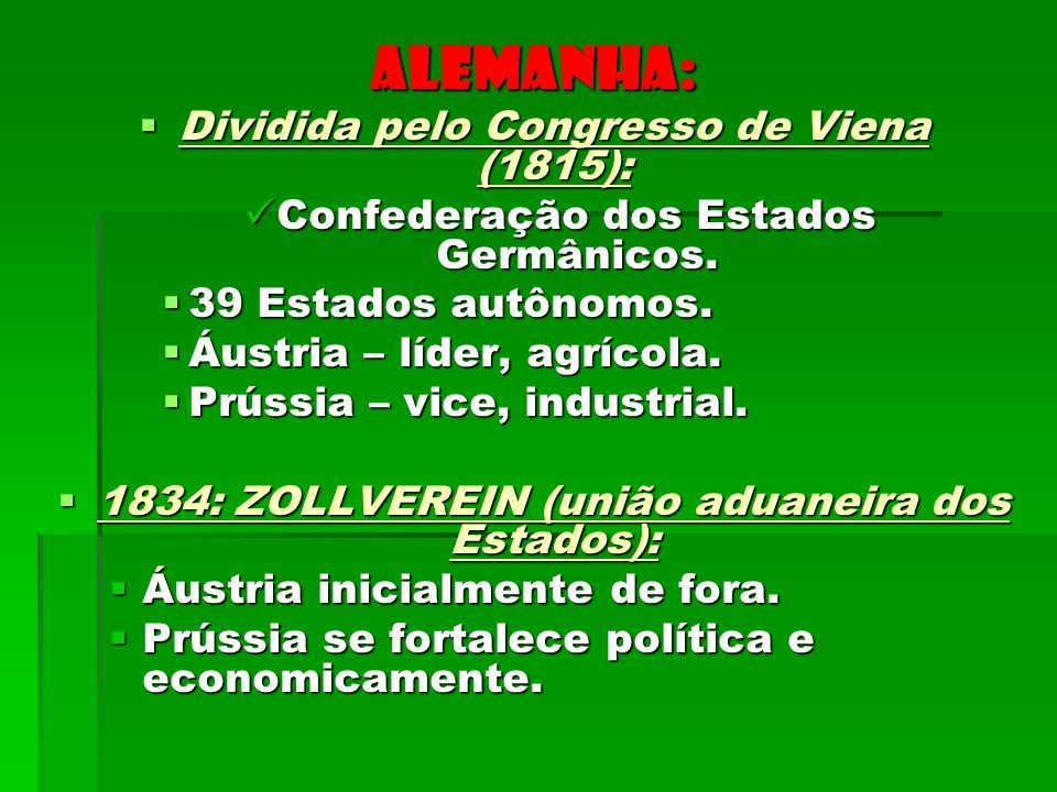 Dividida pelo Congresso de Viena (1815):