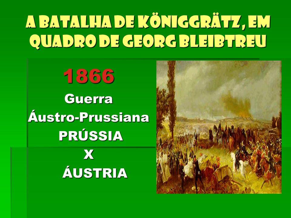A batalha de Königgrätz, em quadro de Georg Bleibtreu