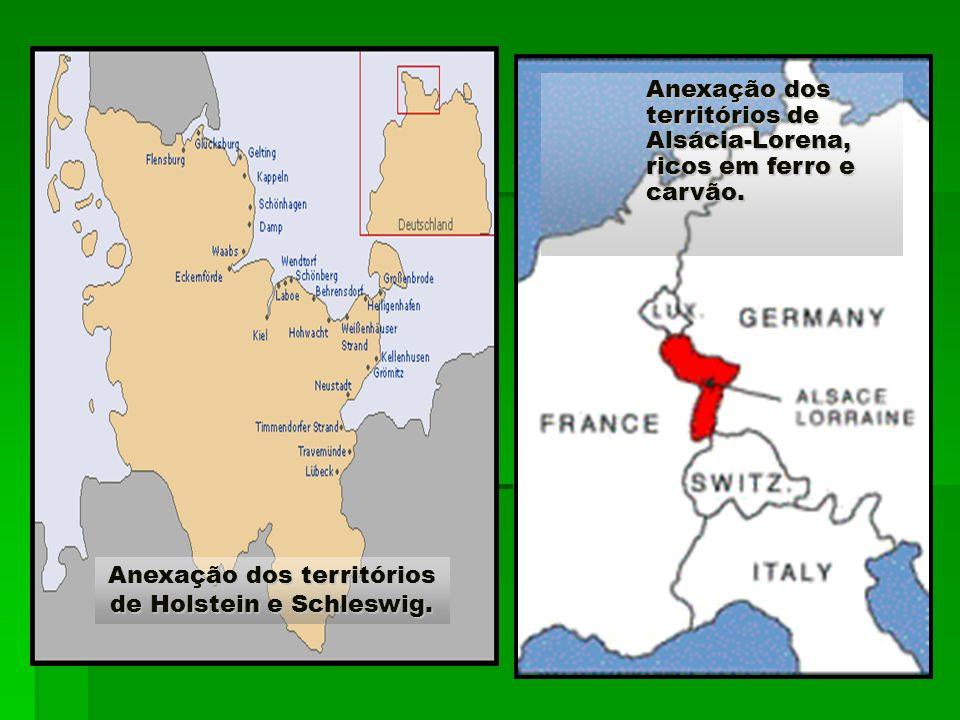 Anexação dos territórios de Holstein e Schleswig.