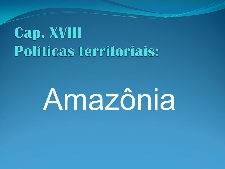 Cap. XVIII Políticas territoriais: