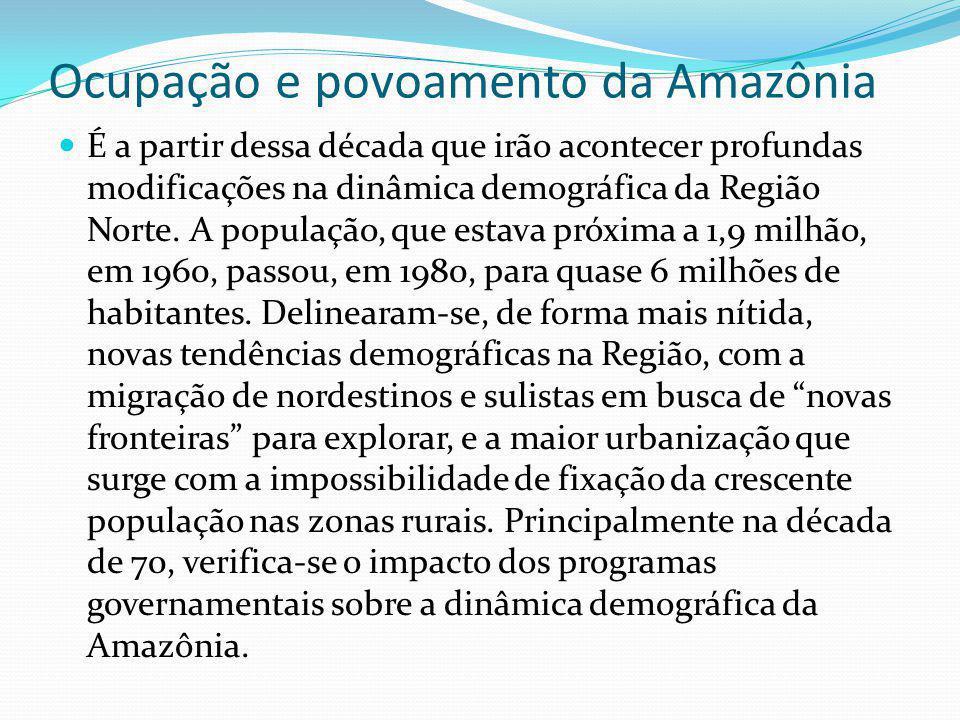 Ocupação e povoamento da Amazônia
