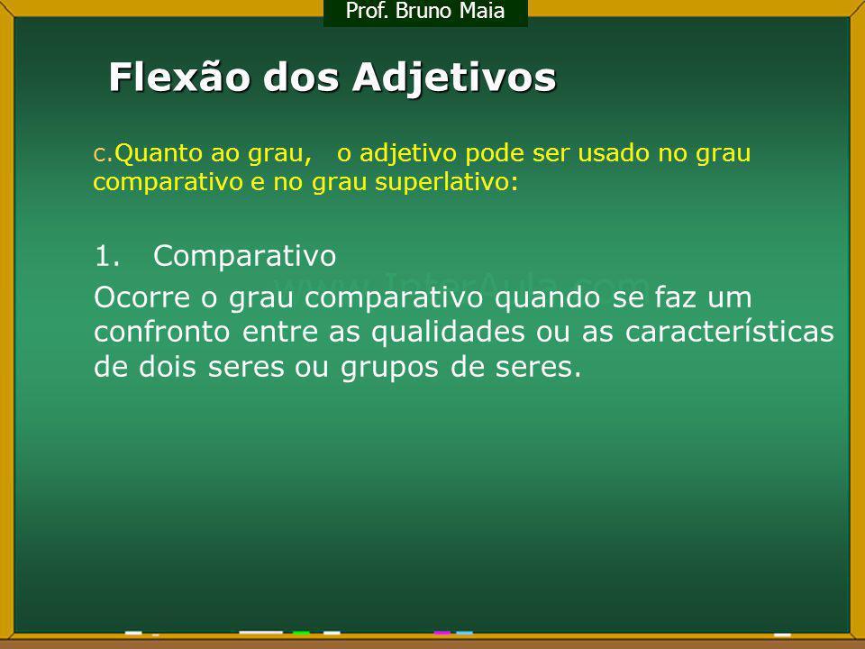 Flexão dos Adjetivos 1. Comparativo