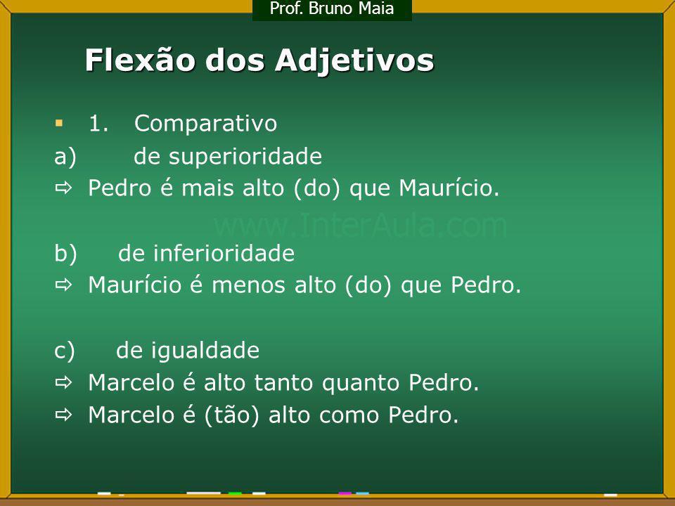 Flexão dos Adjetivos 1. Comparativo a) de superioridade