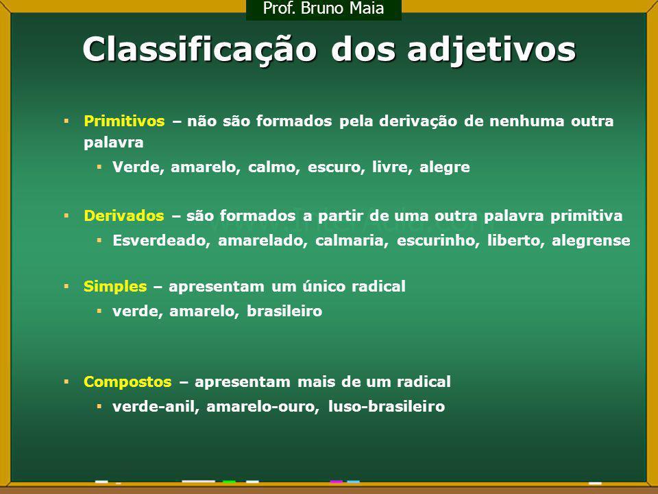 Classificação dos adjetivos