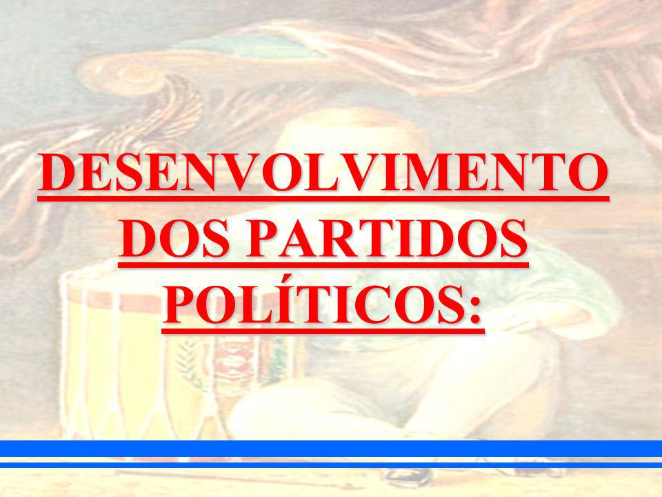 DESENVOLVIMENTO DOS PARTIDOS POLÍTICOS: