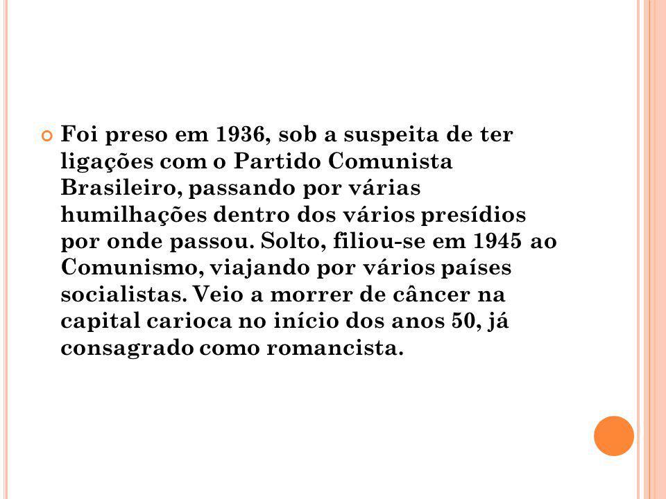 Foi preso em 1936, sob a suspeita de ter ligações com o Partido Comunista Brasileiro, passando por várias humilhações dentro dos vários presídios por onde passou.