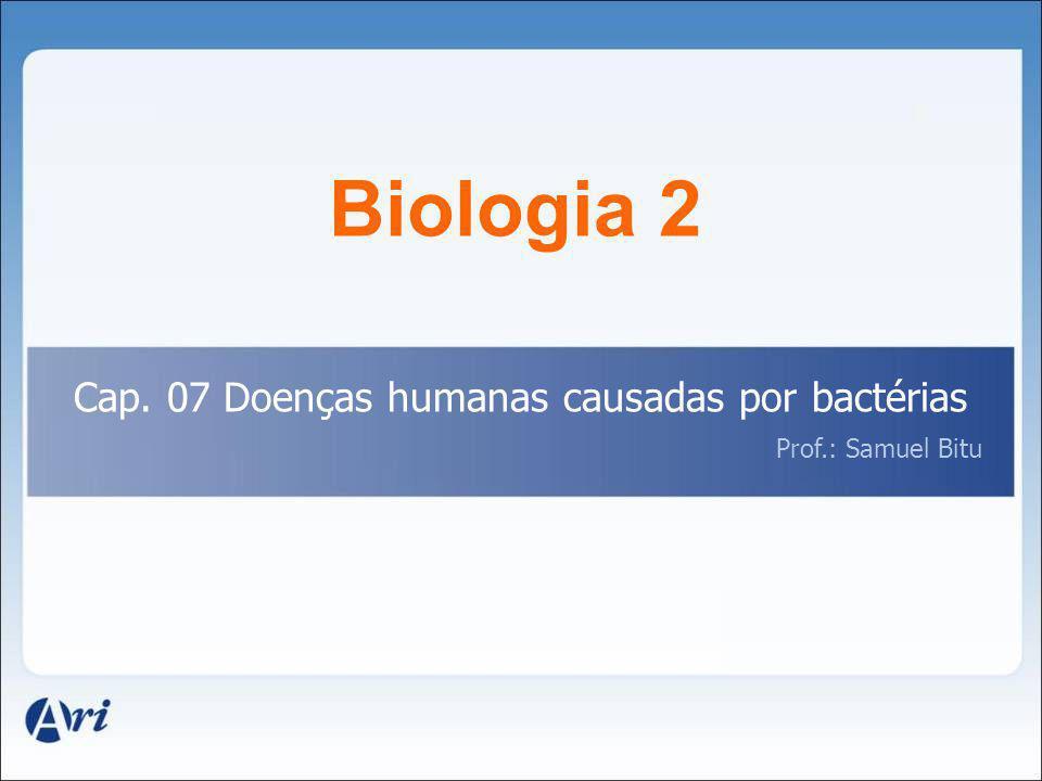 Biologia 2 Cap. 07 Doenças humanas causadas por bactérias