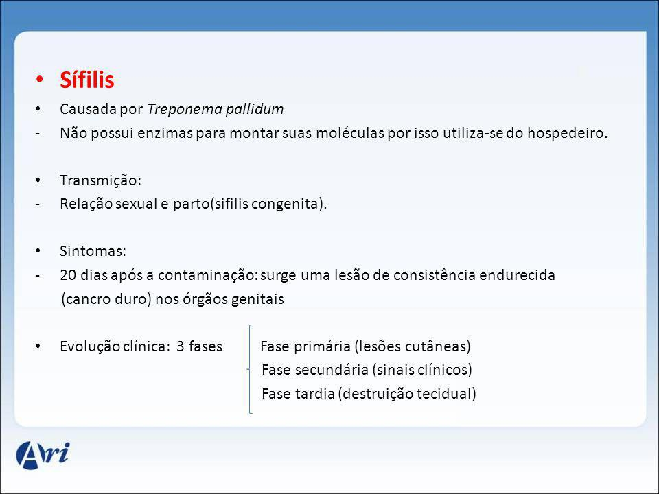 Sífilis Causada por Treponema pallidum