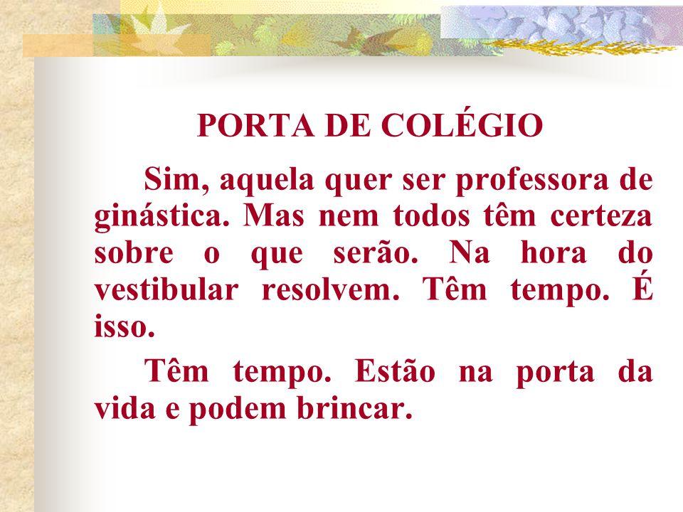 PORTA DE COLÉGIO