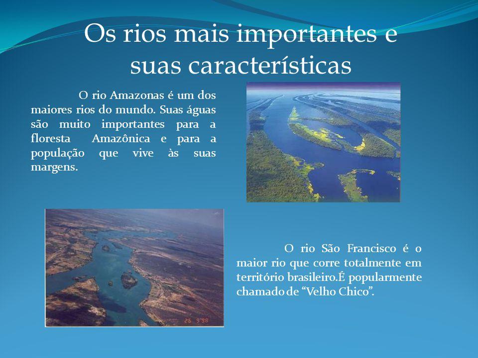 Os rios mais importantes e suas características