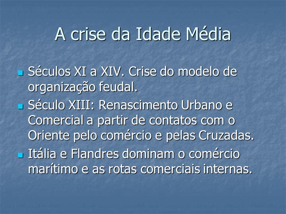 A crise da Idade Média Séculos XI a XIV. Crise do modelo de organização feudal.