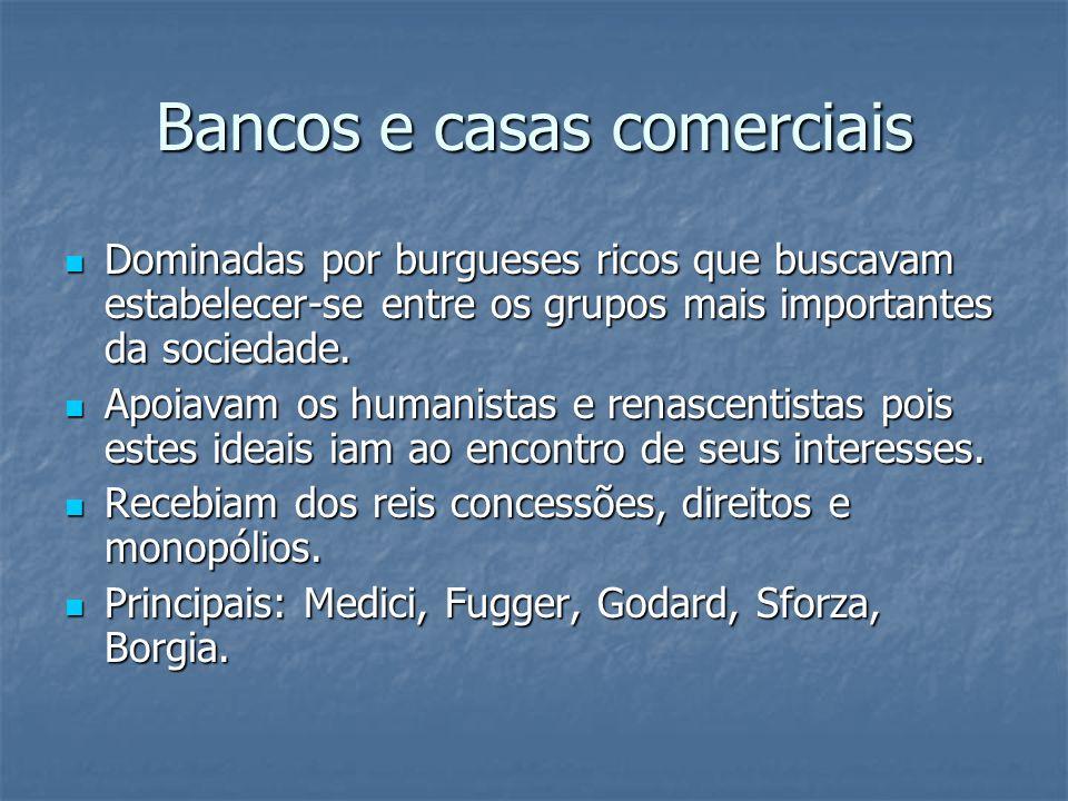 Bancos e casas comerciais