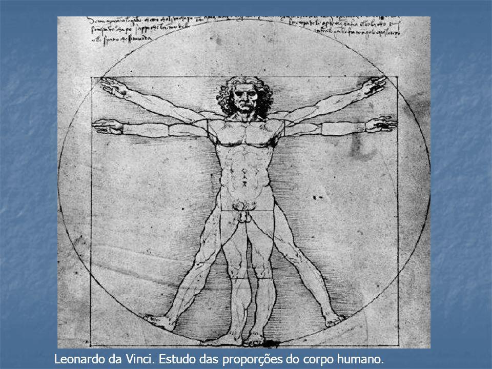 Leonardo da Vinci. Estudo das proporções do corpo humano.