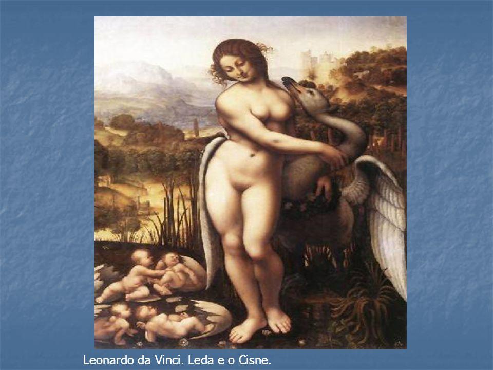 Leonardo da Vinci. Leda e o Cisne.