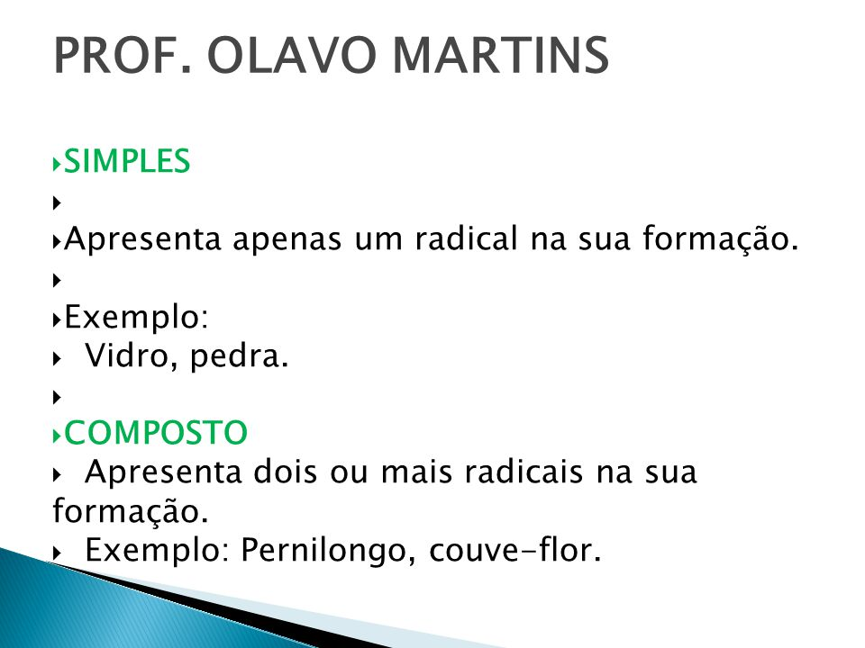 PROF. OLAVO MARTINS SIMPLES