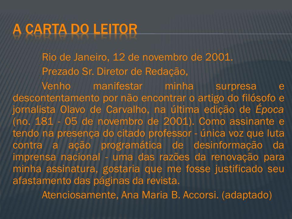 A carta do leitor