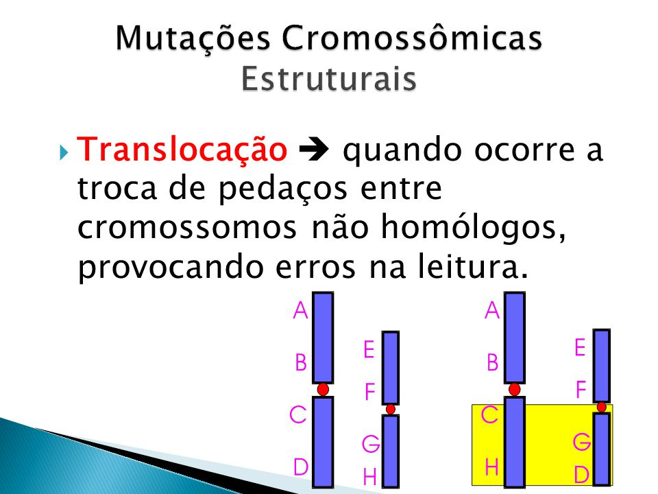 Mutações Cromossômicas Estruturais
