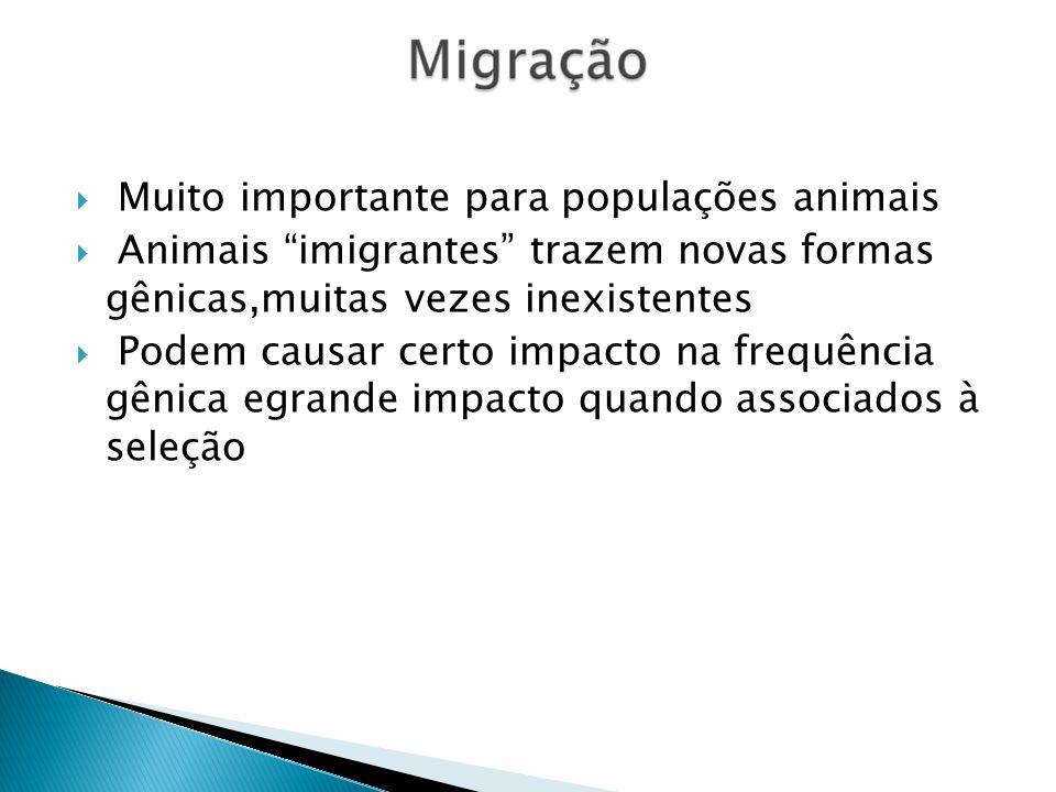 Muito importante para populações animais