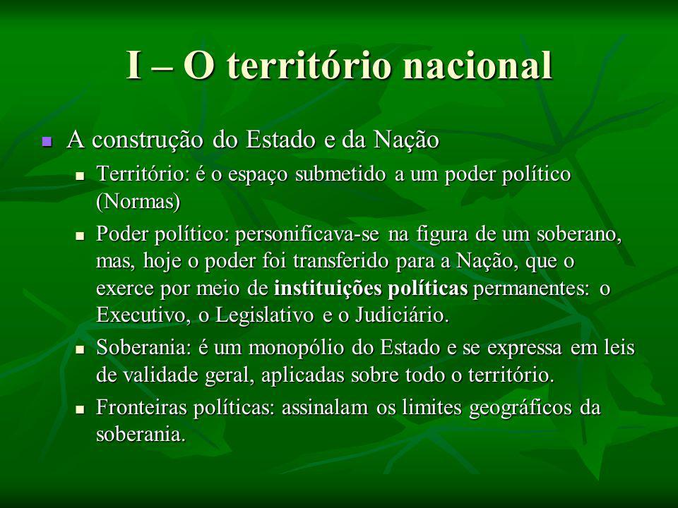 I – O território nacional