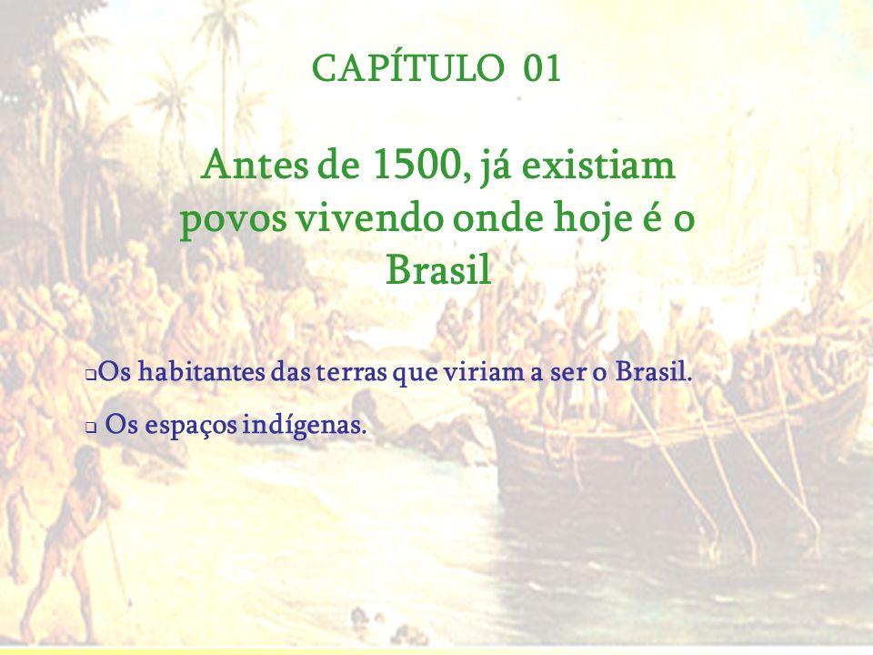 Antes de 1500, já existiam povos vivendo onde hoje é o Brasil