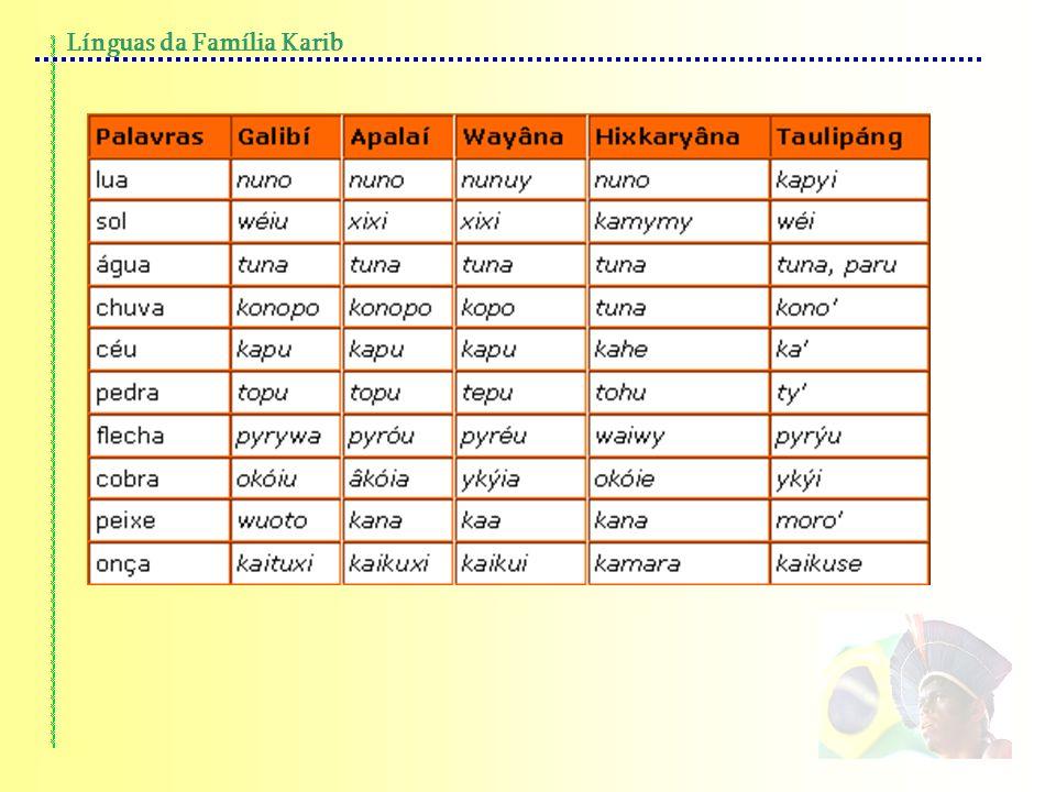 Línguas da Família Karib
