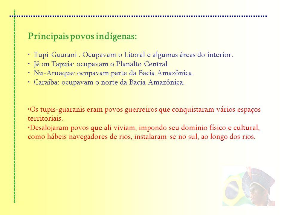 Principais povos indígenas: