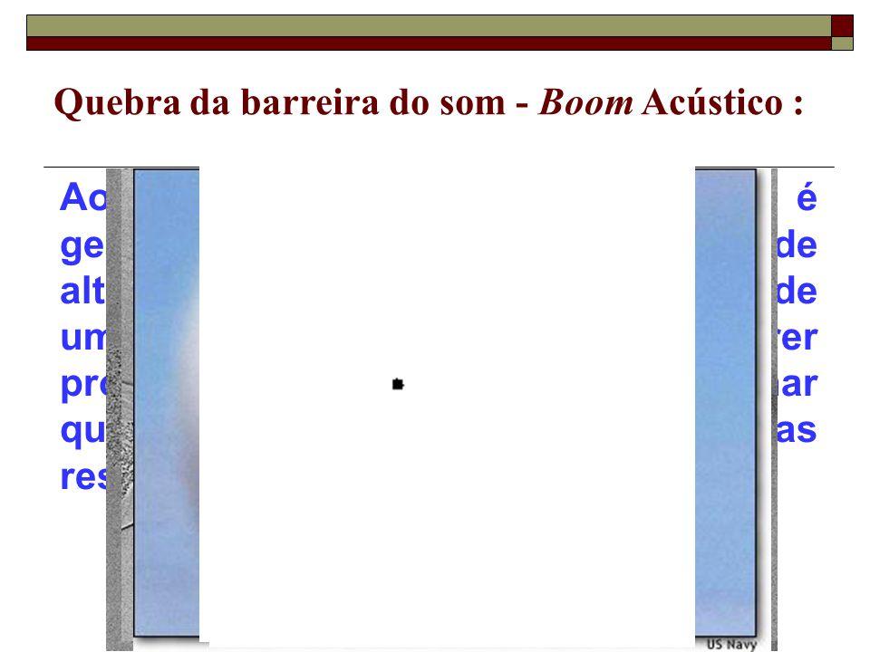 Quebra da barreira do som - Boom Acústico :