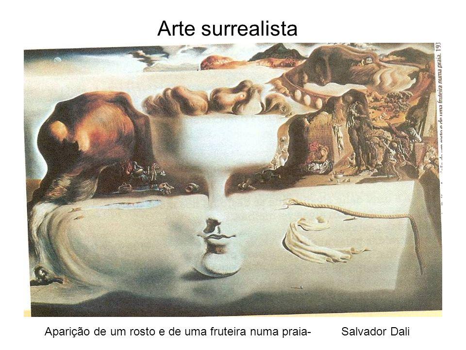 Aparição de um rosto e de uma fruteira numa praia- Salvador Dali