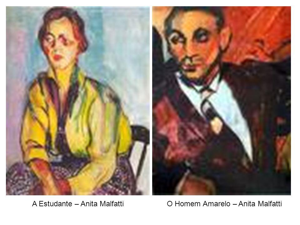 A Estudante – Anita Malfatti O Homem Amarelo – Anita Malfatti