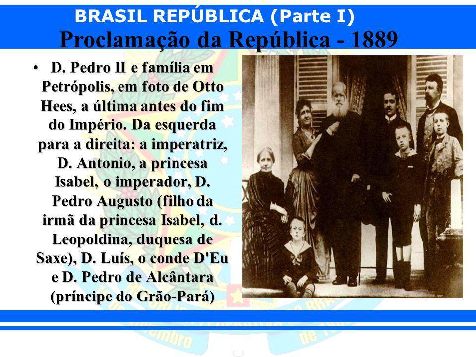 D. Pedro II e família em Petrópolis, em foto de Otto Hees, a última antes do fim do Império.