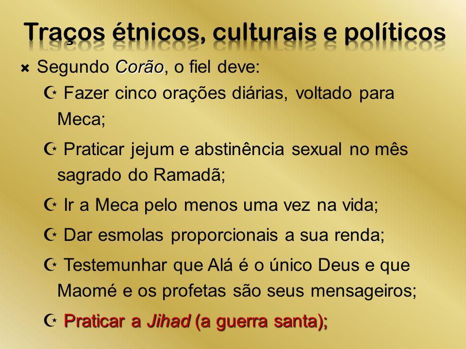 Traços étnicos, culturais e políticos