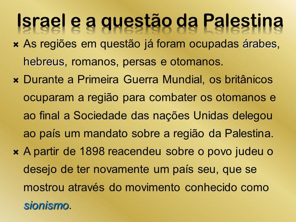 Israel e a questão da Palestina