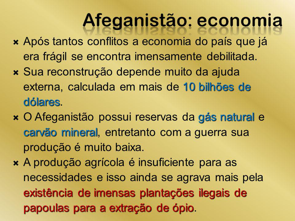 Após tantos conflitos a economia do país que já era frágil se encontra imensamente debilitada.