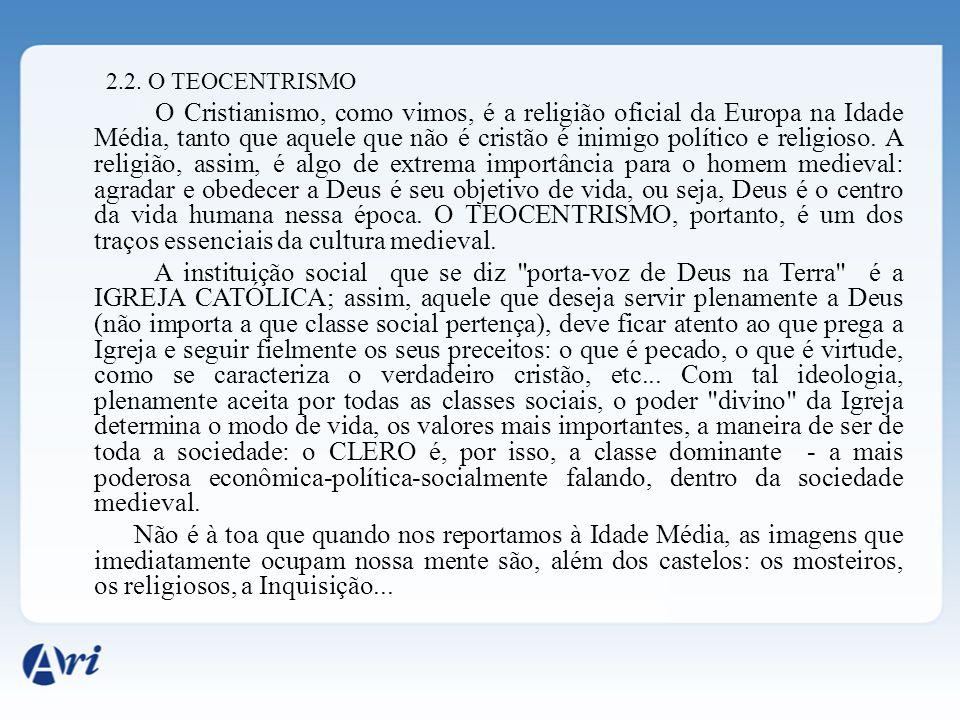 2.2. O TEOCENTRISMO