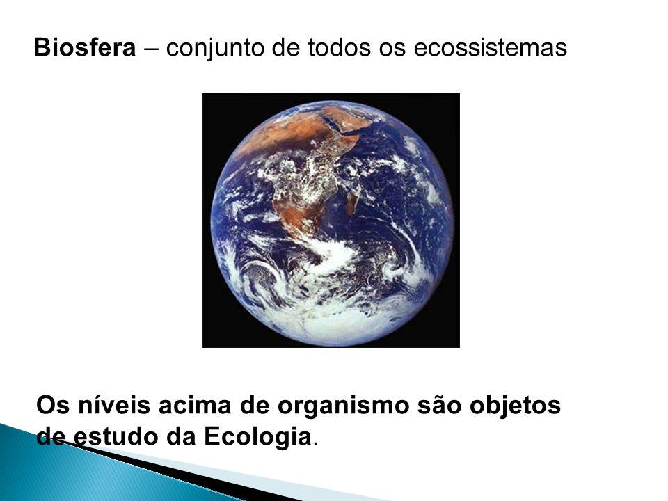 Biosfera – conjunto de todos os ecossistemas